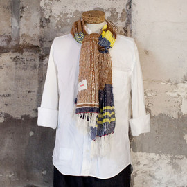 hola - hola one-off mohair×cotton stole big 002