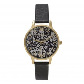 Olivia Burton - MONOCHROME DITSY FLORAL BLACK AND GOLD