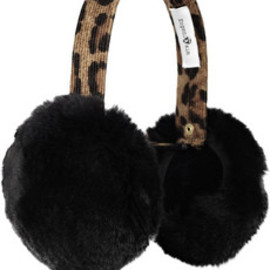 Eugenia Kim - Janine leopard-print corduroy and rabbit earmuffs