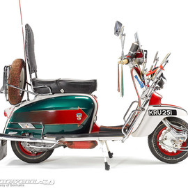 Lambretta - The 'Jimmy Bike', one of the most famous Lambrettas of all time.
