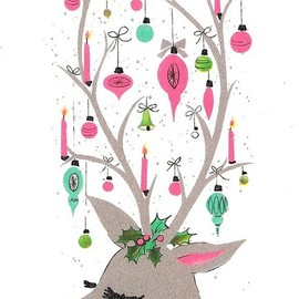 omggggg  REINDEER ALL THE WAY #christmas #adorable #illustration