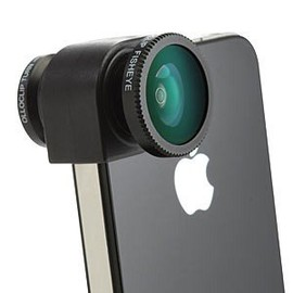 PremierSystems  - Olloclip 3 in 1 PHOTO LENS for iPhone4/4S BLACK OC-IPH4-FWM-B