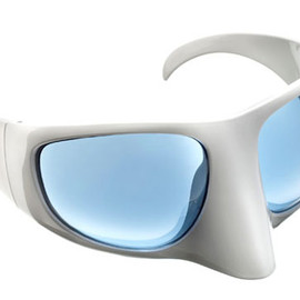 Bernhard Willhelm - Linda Farrow x Bernhard Willhelm Visor Sunglasses WHITE