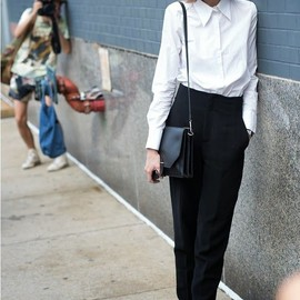 white shirt chic. NYC.