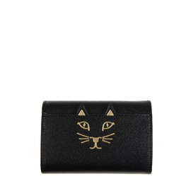 Charlotte Olympia - Grained calf leather mini wallet