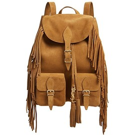 Saint Laurent - Saint Laurent 'Medium Festival' Fringe Suede Backpack