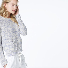 JAMES PERSE - side slit crew neck sweater