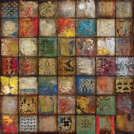 InGallery.com - Baroque Collage II by Douglas Fine Art Canvas 24 x 24 in Gallery Wrap Wall Decor