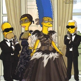 Harper's Bazaar - The simpsons × Chanel