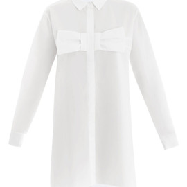 CHRISTOPHER KANE - Bow front shirt dress