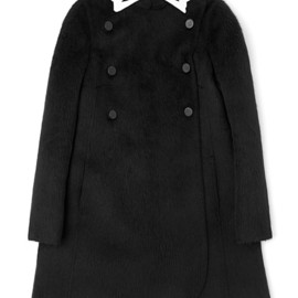 VALENTINO - Double Breasted Coat With Embroidered Collar