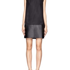 3.1 Phillip Lim - Leather collar and hem shift dress