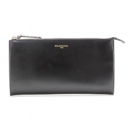 BALENCIAGA - PADLOCK NUDE POUCH LEATHER AND SNAKESKIN CLUTCH