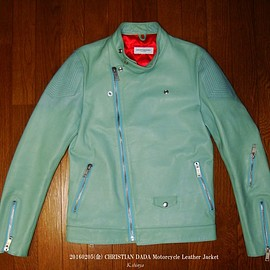 CHRISTIAN DADA - Motorcycle Leather Jacket CD-14W-1103 Color:Mint Green