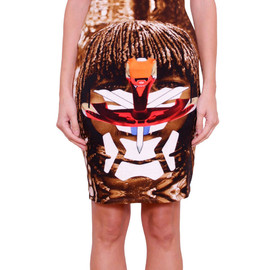 GIVENCHY - SS2014 Cotton skirt with Masai print