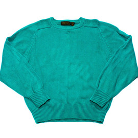 Eddie Bauer - Vintage 90s Teal Eddie Bauer Cotton Sweater Made in USA Mens Size Medium