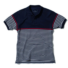 uniform experiment - COTTON SEED STITCH BORDER S/S POLO