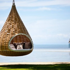 Philippin - In this hanging cocoon hammock in the Philippines.
