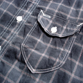 post overalls - C-Post 6 Shirt in Flannel Plaid Black