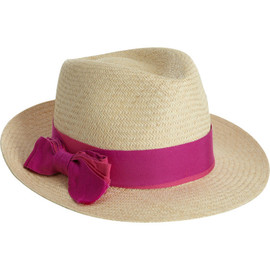 LANVIN - Panama Hat With Ribbon Tie