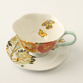 Anthropologie - Watercolor Petals Cup & Saucer