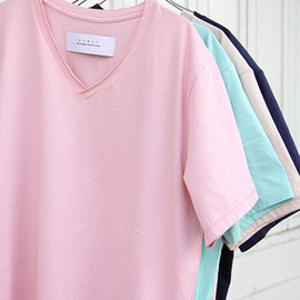 Curly - RM cotton V-neck T