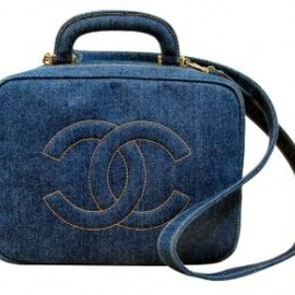 CHANEL - Chanel Denim Jeans Cosmetic Beauty Vanity Case Bag +strap 1
