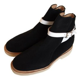 British Remains(made by george cox) - jodphur boots(black suede)