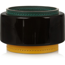 MARNI - Resin and leather bangle