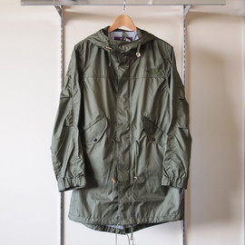 THE NORTH FACE PURPLE LABEL - Hyvent Fish Tail Hooded Coat #khaki
