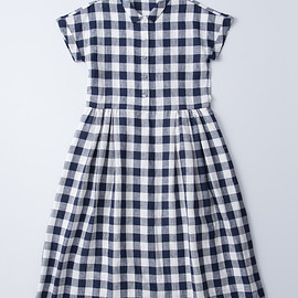 "atelier naruse - linen shirts one-piece""gingham check"""