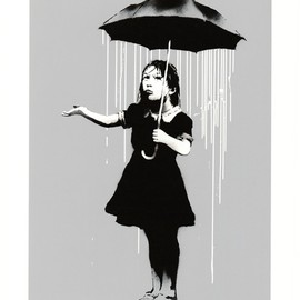 BANKSY - NOLA & POLICE KIDS SCREEN PRINT