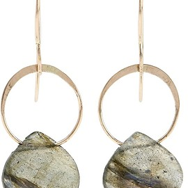 Melissa Joy Manning - 14-karat gold labradorite earrings