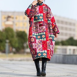 dress - Winter Dress, Women Oversized dresses, Long Plus velvet robe