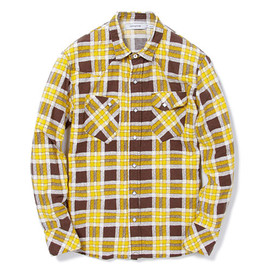 nonnative - RANCHER SHIRT - COTTON FLANNEL TATTERSALL CHECK