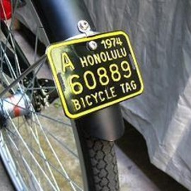 blank - bicycle tag