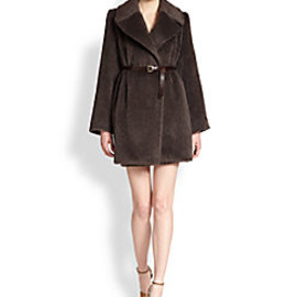 MARC JACOBS - Marc Jacobs - Belted Llama Wrap Coat