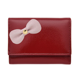 BECKER - patent red with little bow/極小財布