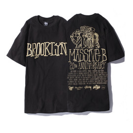 Stussy, Massive B, Primecuts - Massive B 20th Anniversary Tee - Black/Gold
