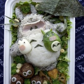 Flying totoro bento, studio ghibli food