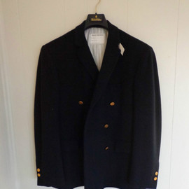 BLACK FLEECE BY Brooks Brothers - Navy Camel Hair Double Breasted Blazer From Fall 2007 Collection