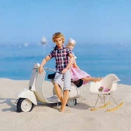 Barbie - Ken looking cool with his Piaggio Vespa