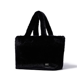 "HEAD PORTER - ""BETH"" TOTE BAG (M) BLACK"