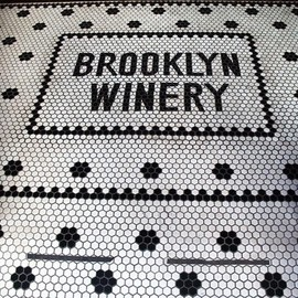Brooklyn,NY - Brooklyn Winery tile entrance.