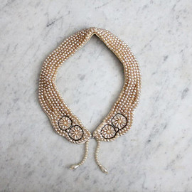 beaded collar / scalloped collar / beaded collar necklace