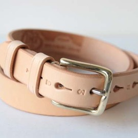 "JABEZ CLIFF - Leather Belt col.""LONDON"""
