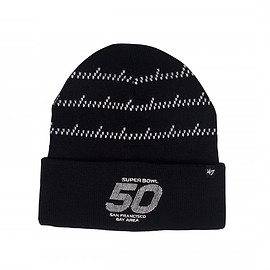 Benny Gold, Super Bowl 50, 47 Brand - NFL Super Bowl 50 Boutique Collection: Mission Black Beanie