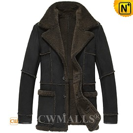 Mens Striped Leather Jacket CW880017 - M.CWMALLS.COM