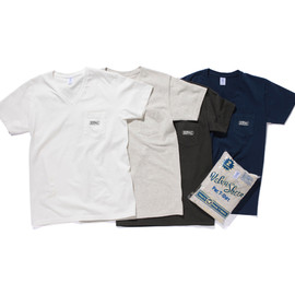 stussy livin' general store - Velva Sheen V-Neck Pocket Tee (2P)