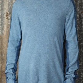 m.a+ - Loose Fit Banded Long Sleeve T-Shirt in indigo